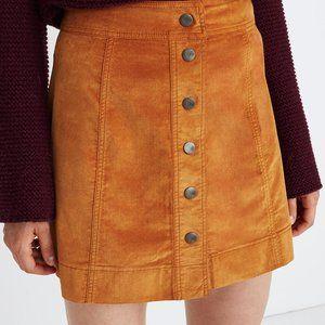Madewell Velveteen A-Line Mini Skirt